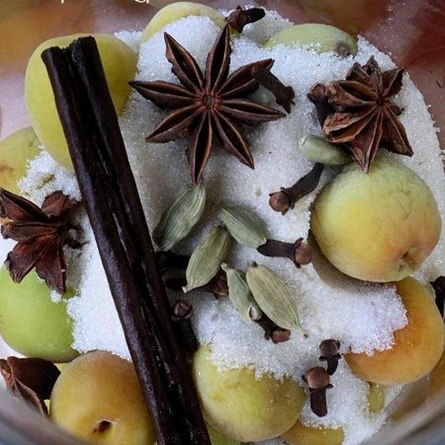 ◆梅仕事、第一弾はスパイス梅シロップ作り♪