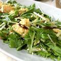 さっぱりモリモリ♪ 水菜とスクランブルエッグのオイ酢サラダ