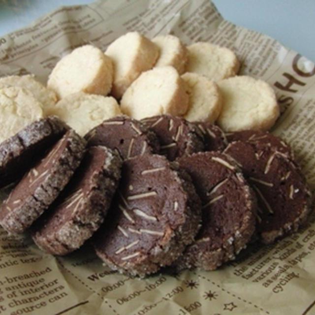サブレとココアアーモンドクッキー。