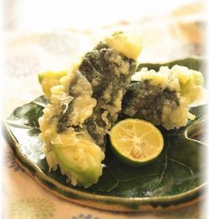 アボカドチーズの海苔天ぷら