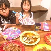晩御飯は冷蔵庫の残り物で作りました〜!!