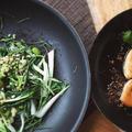 鮪のハーブ焼きとサムファイアと雑穀のサラダ