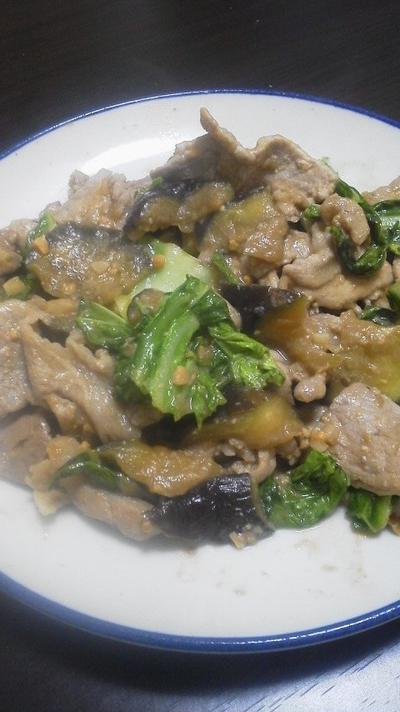 ナスと豚肉の味噌炒め~昼下がりのがっつり飯~