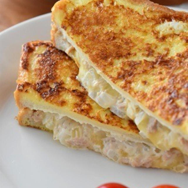 ツナチーズのモンティクリスト風の昼