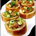 【小岩井乳業】スモークサーモンとアボカドチーズのフランスパン