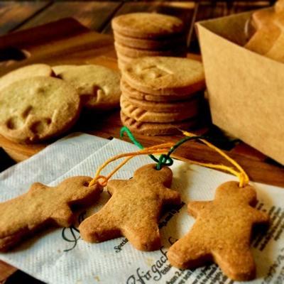 ジンジャークッキーのレシピ。