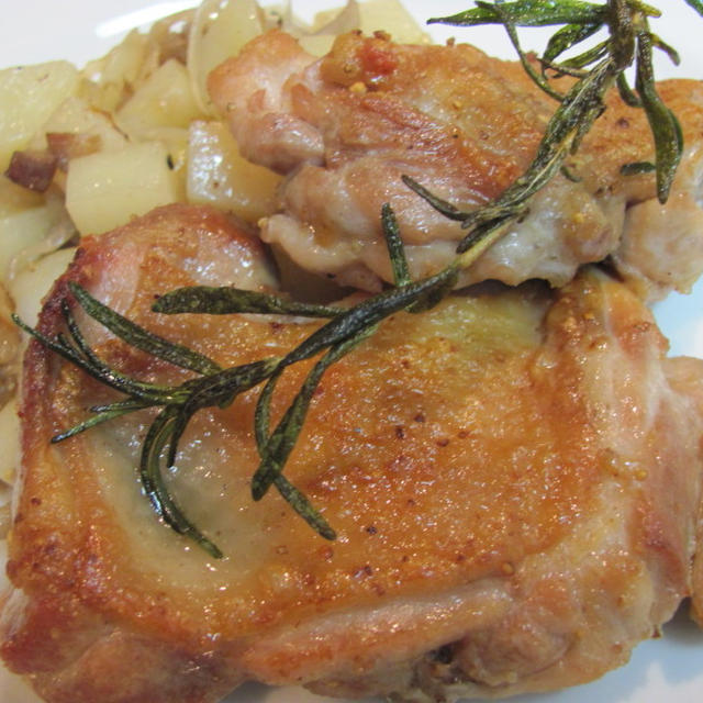 鶏もも肉のソテー☆ストウブのココットが来た