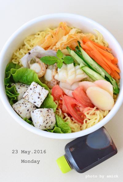 5月23日 月曜日 シーフード冷麺