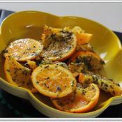 オレンジのバジルマリネ