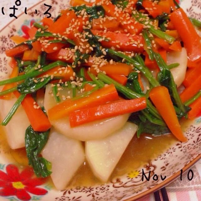 野菜を食べよう☆大根のお野菜あんかけ♪