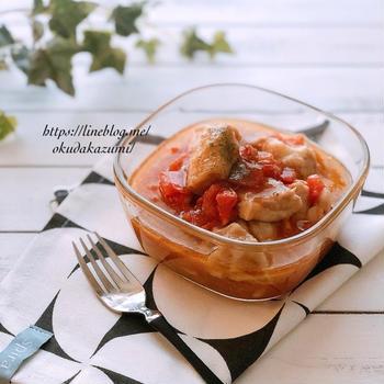 【レンチン5分で完成】冷やしても美味しい*さっぱりチキンとトマトのマリネ(オススメ)