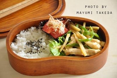 【簡単弁当】野菜の水煮を使って節約☆鶏肉と野菜のオイスター炒め弁当