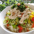 暑い日にも♪カリフォルニア・アーモンド de 棒棒鶏風サラダうどん by TOMO(柴犬プリン)さん