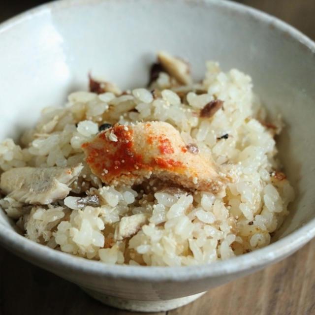 明太子とさんまの炊き込みご飯