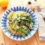 夏のランチに! しらすと小松菜のレモン醤油ペペロンチーノ