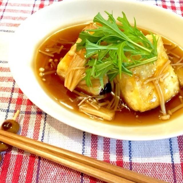 えのきあんかけ♪フライパンで揚げ出し豆腐♫