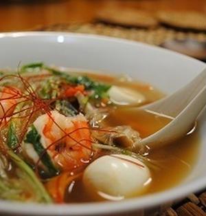 ,ウズラ卵と 水菜の 中華風スープ ☆