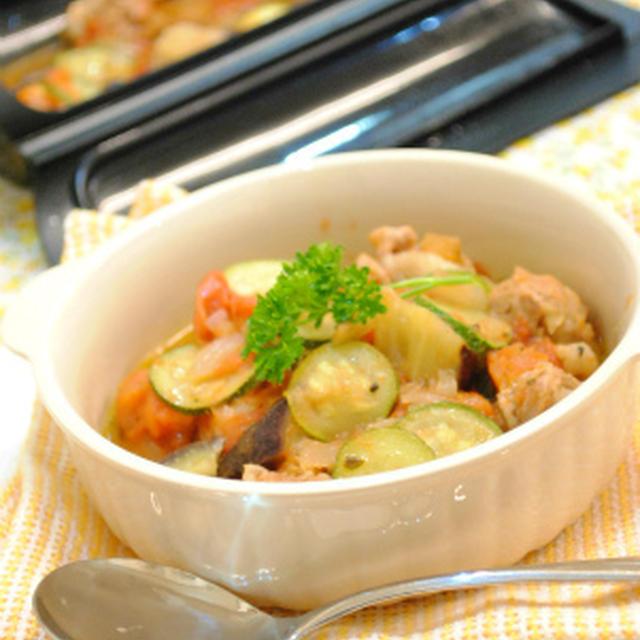 たっぷり夏野菜の ロールポーク カチャトラ ☆
