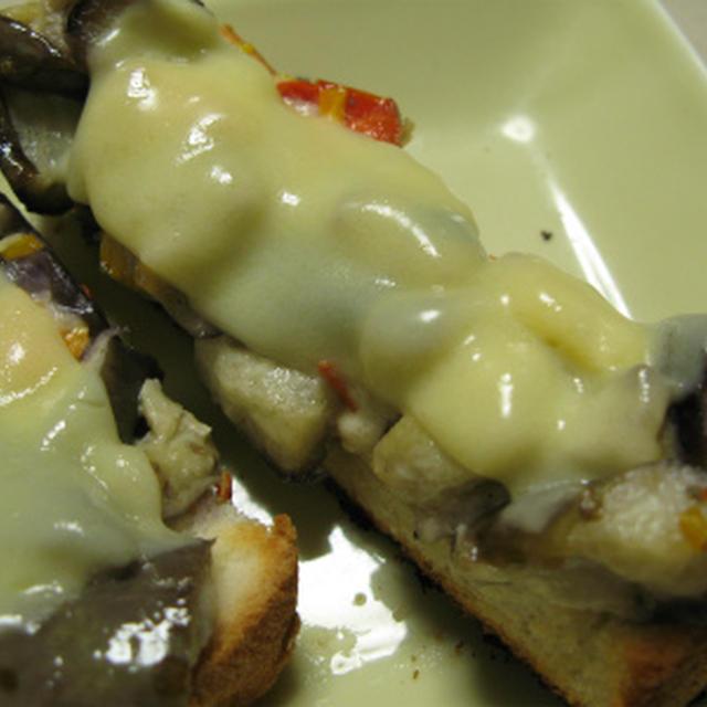 チーズと茄子のスティックパン(レシピ)
