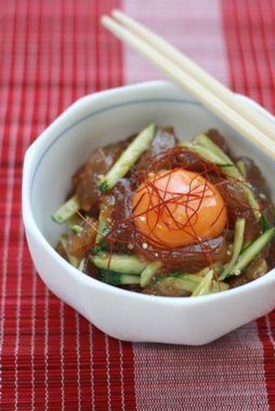 【焼き肉のタレでお魚ユッケ!】