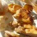 塩焼とりとジャガイモ焼き