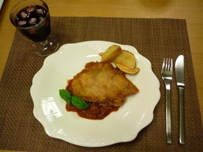 バジルとモッツァレラチーズのはさみカツ〜夕飯