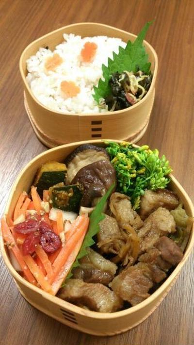 2016/11/1豚の角煮弁当