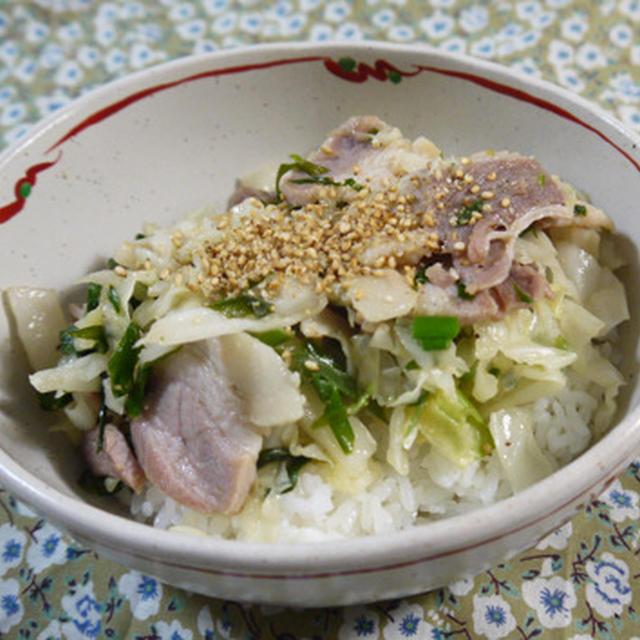 塩豚野菜丼