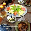 ◆豚ロースとズッキーニサラダのおうちごはん♪~ゆるやか糖質制限中♪ by fellowさん
