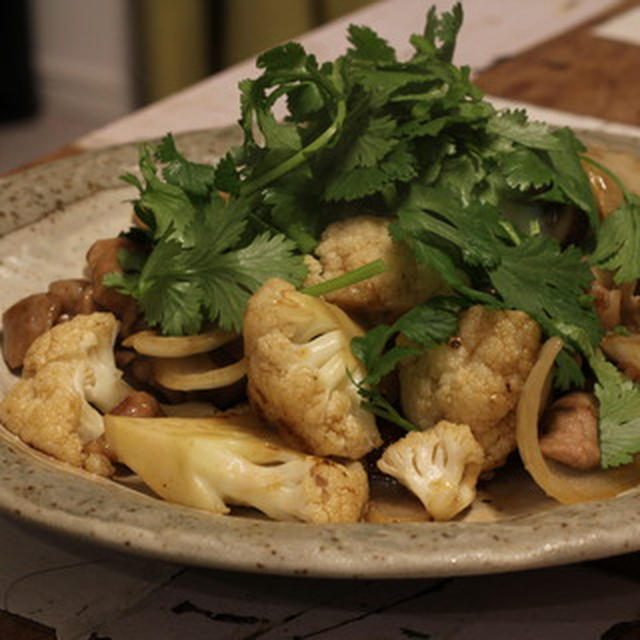【recipe】カリフラワーと豚肉のエスニック炒め/四文屋