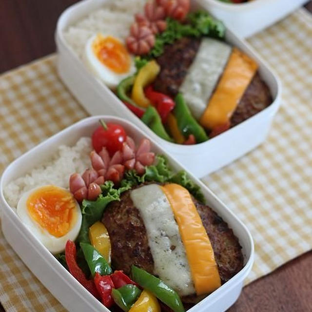 チーズハンバーグ ✿ 台風9号接近中 ゞ(`´ ) シッシッ