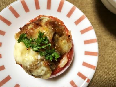 トマトのナス味噌チーズ焼き