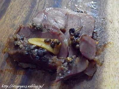 豚スネ肉と実山椒の蒸し煮