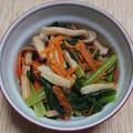 ちくわと小松菜のからし和え:ひとり居酒屋の2日目、その3