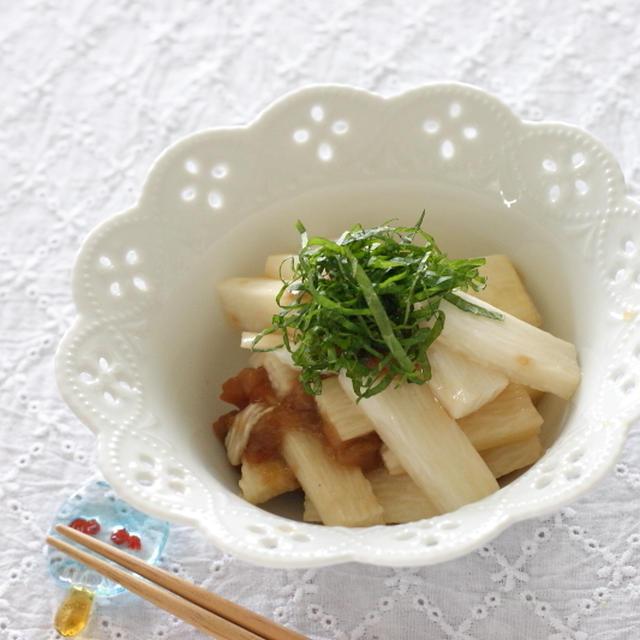 この季節の常備菜に・・・長芋の梅ポン酢漬け