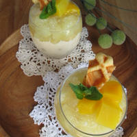 キラキラ♪グレープフルーツゼリーとワッフルの《サマーグラスティラミス》&母の日