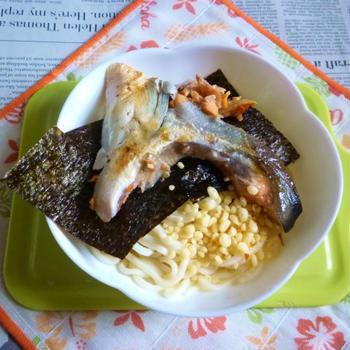 醤油うどん風冷やしうどん25~銀鮭・海苔