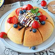子供が作る炊飯器で分厚いパンケーキのレシピ☆超簡単!