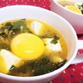 【レシピ】リケン「わかめスープ」活用★お手軽★簡単★やみつき【スンドゥブ風ピリ辛わかめスープ】