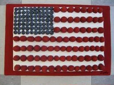 独立記念日のベリーケーキ