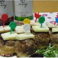 マッシュルームの肉詰めonチーズ by 杏さん