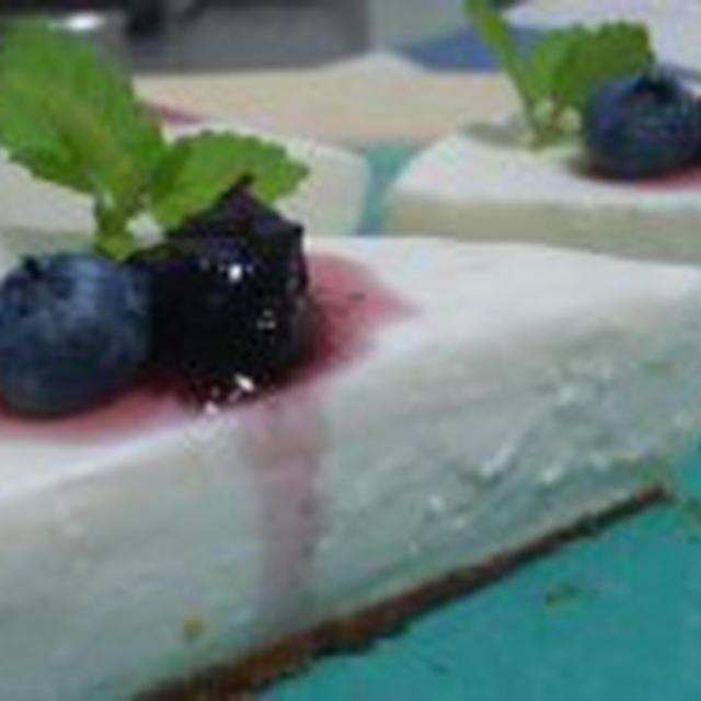 プレーンレアチーズケーキ♪