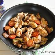 暑い日もラクチン♪フライパン一つで夏野菜と鶏肉のホットソテー