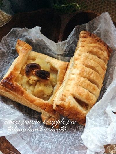 [簡単]スイートポテト*アップルパイ。さつまいもとりんごの甘煮はおすすめです♡