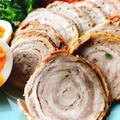 【超簡単チャーシュー】薄切り肉や切り落としでぐるぐる巻きチャーシュー(動画レシピ) by みすずさん