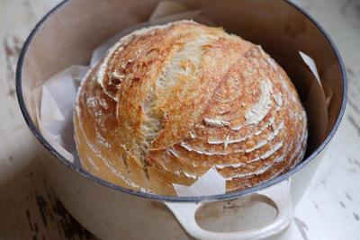 【パン】ついに焼けた♥見た目もかっこいい、「サワードウブレッド」