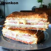 【ベーコン、チーズ好きに捧ぐ】ホットミルフィーユサンドと、ベーコンチーズフォカッチャ