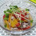 秋刀魚と三色ピーマンのマリネ