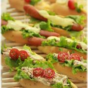 一度に出来ちゃう3種の はちみつミルクミニドックパン。 と サンドイッチ。