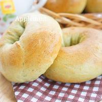 ◆春を待つひらめき朝食◆抹茶ベーグル